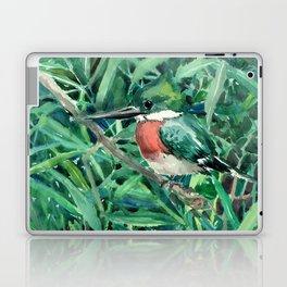 Green Kingfisher in Nature, green design Laptop & iPad Skin