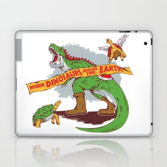 When Dinosaurs ruled the earth Laptop & iPad Skin