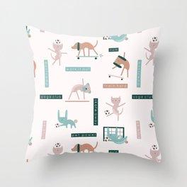 Fit Pet Club Throw Pillow