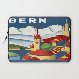 Vintage Bern Switzerland Travel Laptop Sleeve
