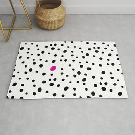 Stand out from the crowd - Dalmatian print Rug