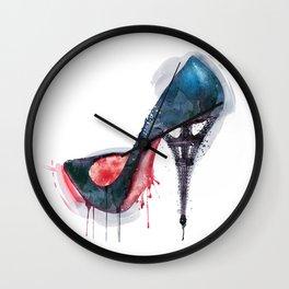 Eiffel Tower Shoe Wall Clock