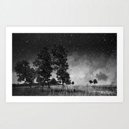 The Lights Hung Art Print