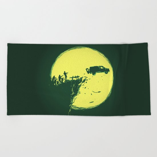Zombie Invasion Beach Towel
