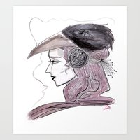 headdress Art Prints featuring Headdress by Avedon Arcade