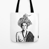 goddess Tote Bags featuring Goddess by Fen_A