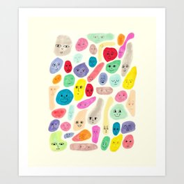 Colored Faces Art Print