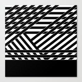 Black and white binding 1 Canvas Print