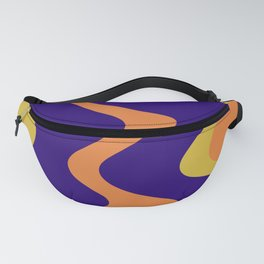 KNICK - bright abstract design orange yellow blue Fanny Pack