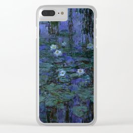 Blue Water Lilies Monet 1916- 1919 Clear iPhone Case