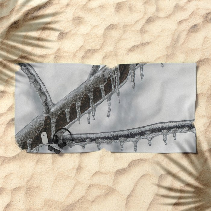 Icy Branch Beach Towel