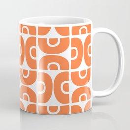 Groovy Mid Century Modern Pattern Orange Coffee Mug