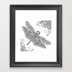 Fly with me through the wind, my dragonfly. Framed Art Print