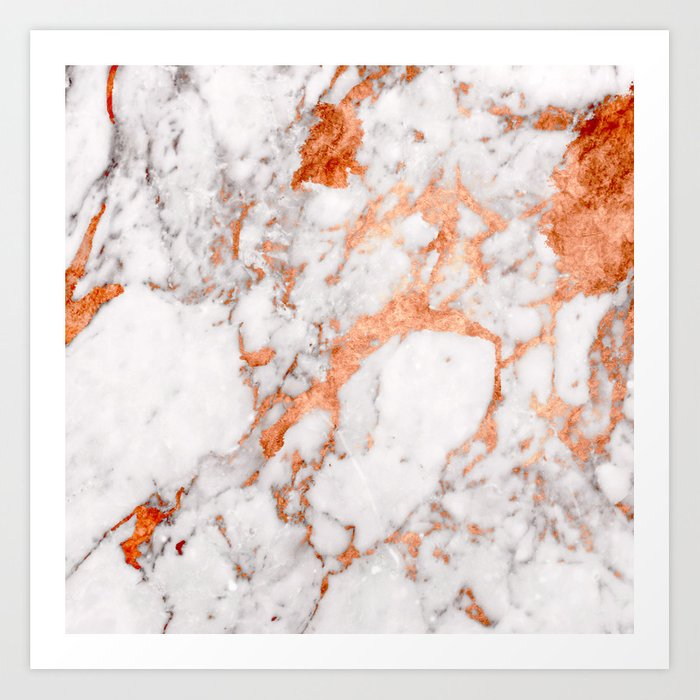 Copper Marble 2 Art Print