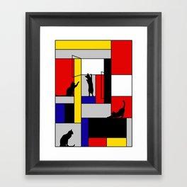 cat Mondrian Framed Art Print