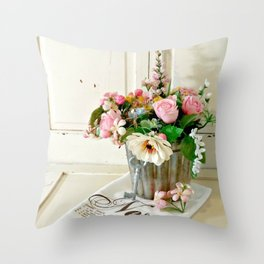 Flowers on Display Throw Pillow