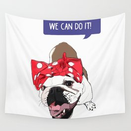 We Can Do it! Rosie the Bulldog Wall Tapestry