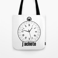 watch Tote Bags featuring Watch by antonio&marko