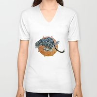 jaguar V-neck T-shirts featuring Jaguar by Quentin Bartholomew