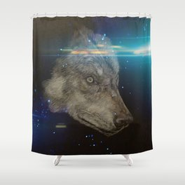 Wolf generation Shower Curtain