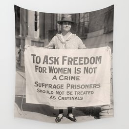 Freedom For Women Is Not A Crime Wall Tapestry