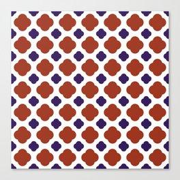 QUATREFOIL, RED AND BLUE Canvas Print