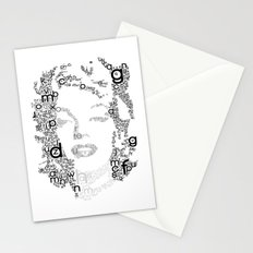 Black Letters Stationery Cards