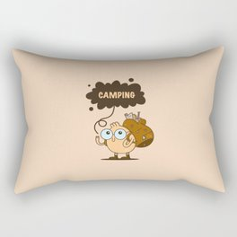 Camping Guy Rectangular Pillow