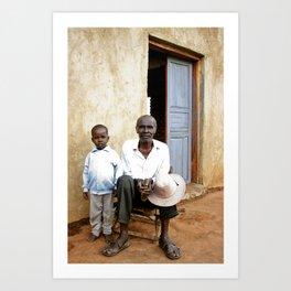 Grandfather and grandson Art Print