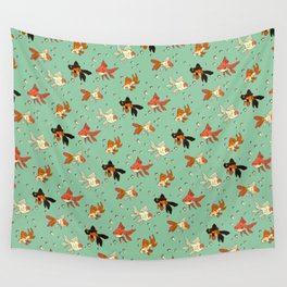Goldfish Pattern Wall Tapestry