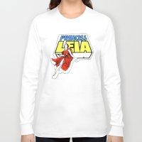 princess leia Long Sleeve T-shirts featuring Princess Leia by Popp Art