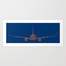 Boeing Dots Art Print