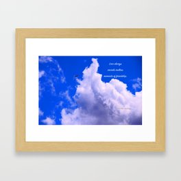 """""""Clouds #73"""" Photo with poem: Love Is #4 Framed Art Print"""