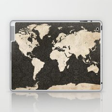 World Map - Ink lines Laptop & iPad Skin