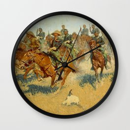 """Frederic Remington Western Art """"On the Southern Plains"""" Wall Clock"""
