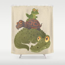Swamp Squad Shower Curtain