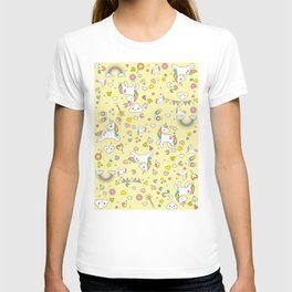 Unicorn Yellow Pattern T-shirt