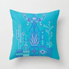 Santa Fe Garden – Blue & Purple Throw Pillow