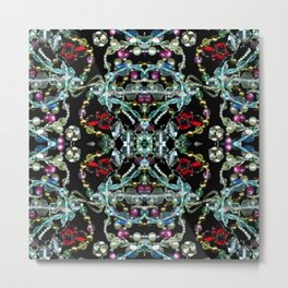 Bling 2, Jewelry Scanography Kaleidoscope Metal Print