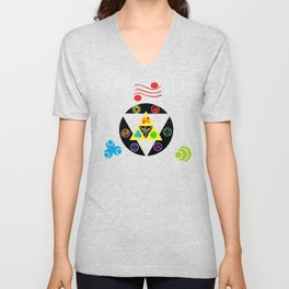 Zelda Triforce green Unisex V-Neck