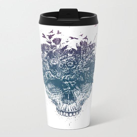 My head is a jungle Metal Travel Mug
