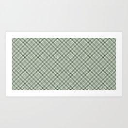 Green Checkered Pattern Art Print