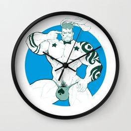 Luxuris in blue Wall Clock