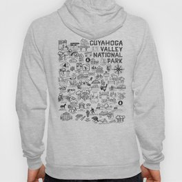 Cuyahoga Valley National Park Map Hoody