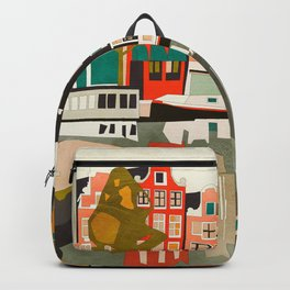 shapes houses of Amsterdam Backpack