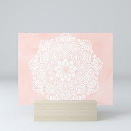 Mandala Mermaid Sea Pink by Nature Magick Mini Art Print