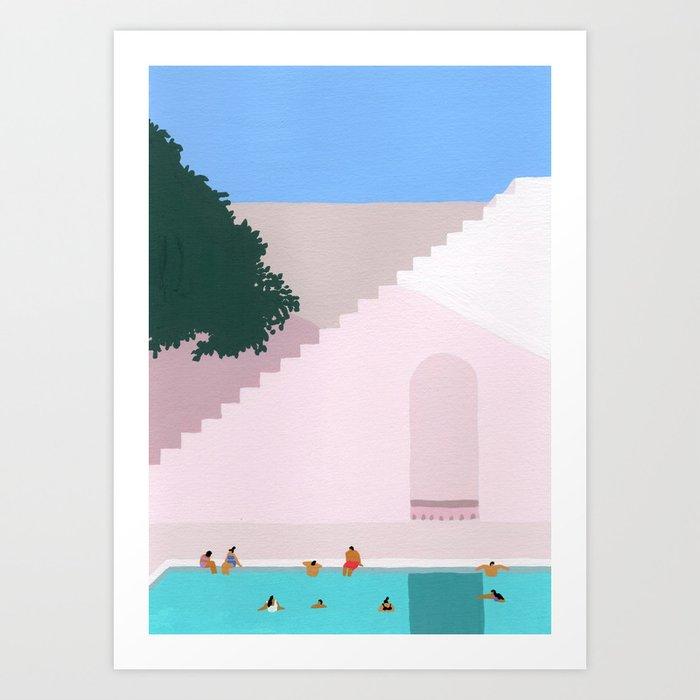Greece Bliss Art Print