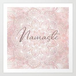 Pink Mandala, Namaste Greeting, Yoga Art Print