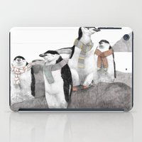 penguins iPad Cases featuring Penguins by Jamie Mitchell