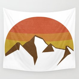 rocky mountains and fall sun Wall Tapestry